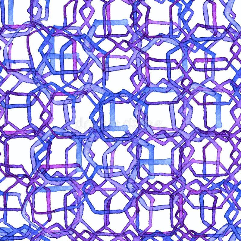 Teste padrão mínimo do hexágono ilustração stock