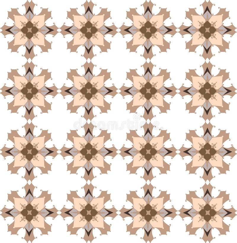 Teste padrão maçante da ilustração colorida do sumário para o fundo e a matéria têxtil ilustração royalty free