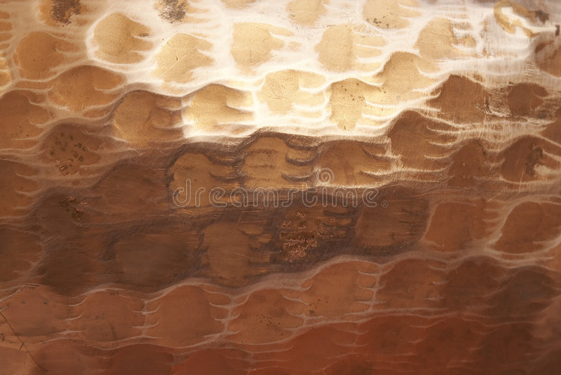 Teste padrão macro do close-up do potenciômetro martelado 4 do tanoeiro fotos de stock