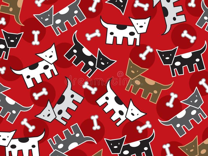 Teste padrão manchado dos doggies ilustração stock