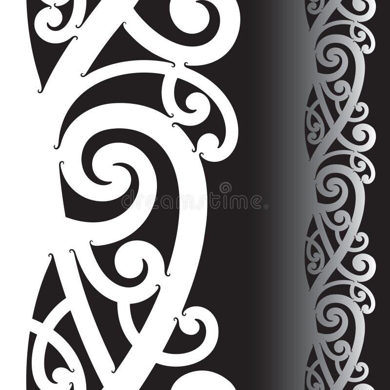 Teste padrão maori do tatuagem ilustração do vetor