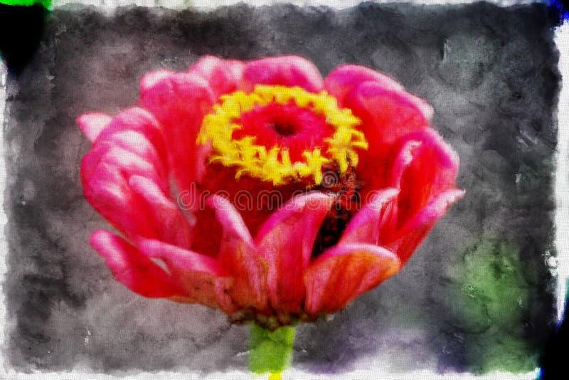 Teste padrão maravilhoso da ilustração da flor em um estilo da aquarela ilustração stock