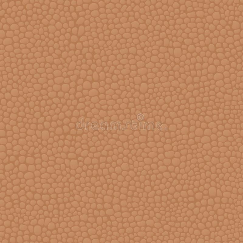 Teste padrão marrom sem emenda de couro do fundo, textura da pele ilustração royalty free