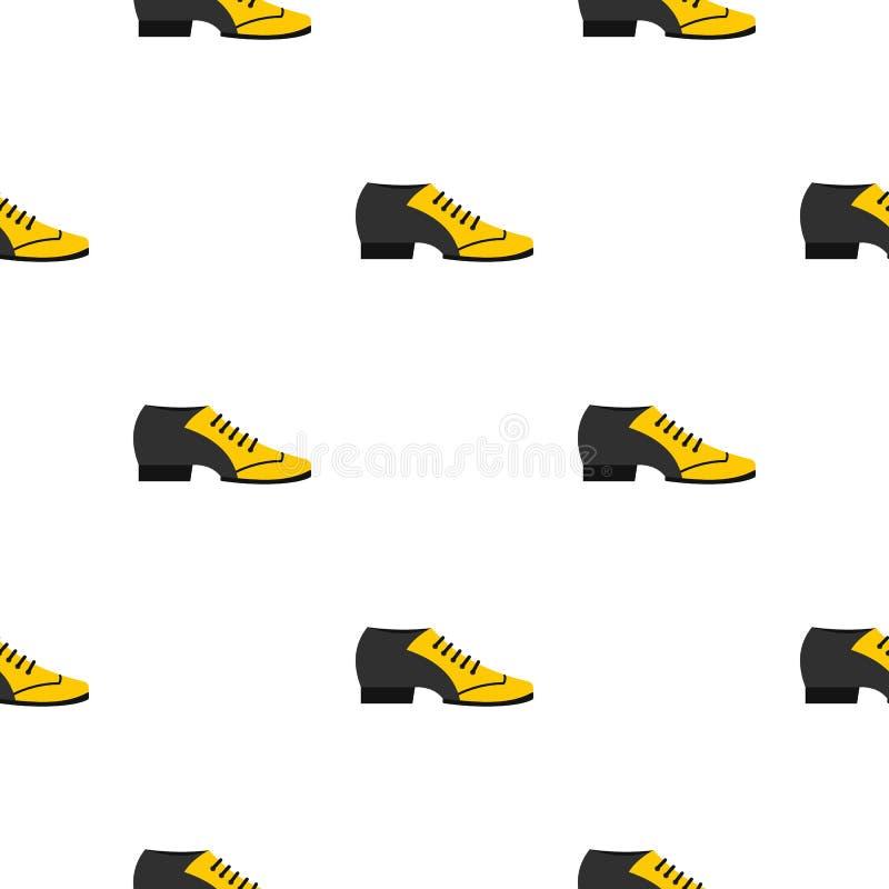 Teste padrão masculino da sapata do tango sem emenda ilustração stock