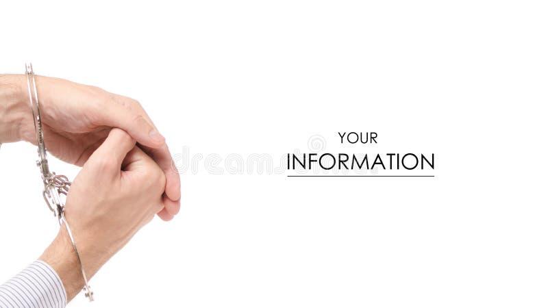 Teste padrão masculino dos punhos da mão fotografia de stock
