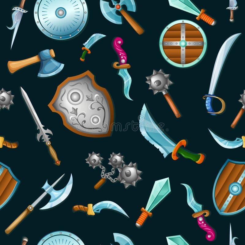 Teste padrão medieval das armas ilustração do vetor