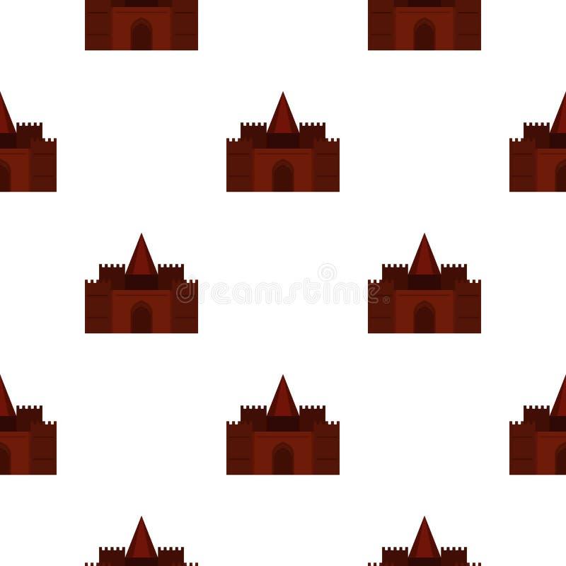 Teste padrão medieval do palácio sem emenda ilustração stock