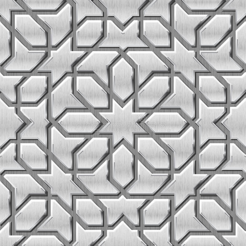 Teste padrão metálico do fundo ilustração royalty free