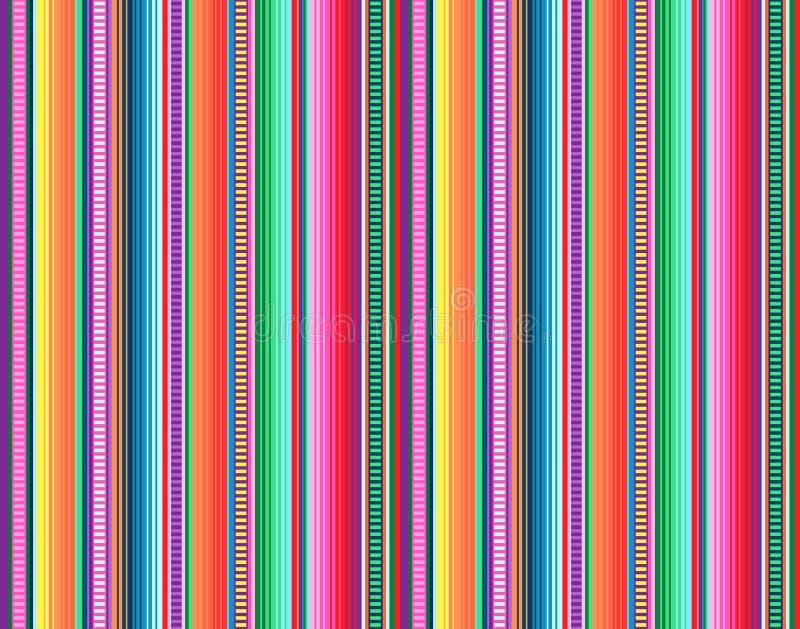 Teste padrão mexicano do tapete o serape listra o vetor ilustração stock