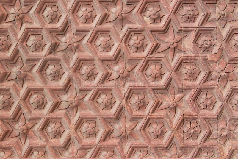 Teste padrão minar da parede do qutub antigo imagem de stock royalty free