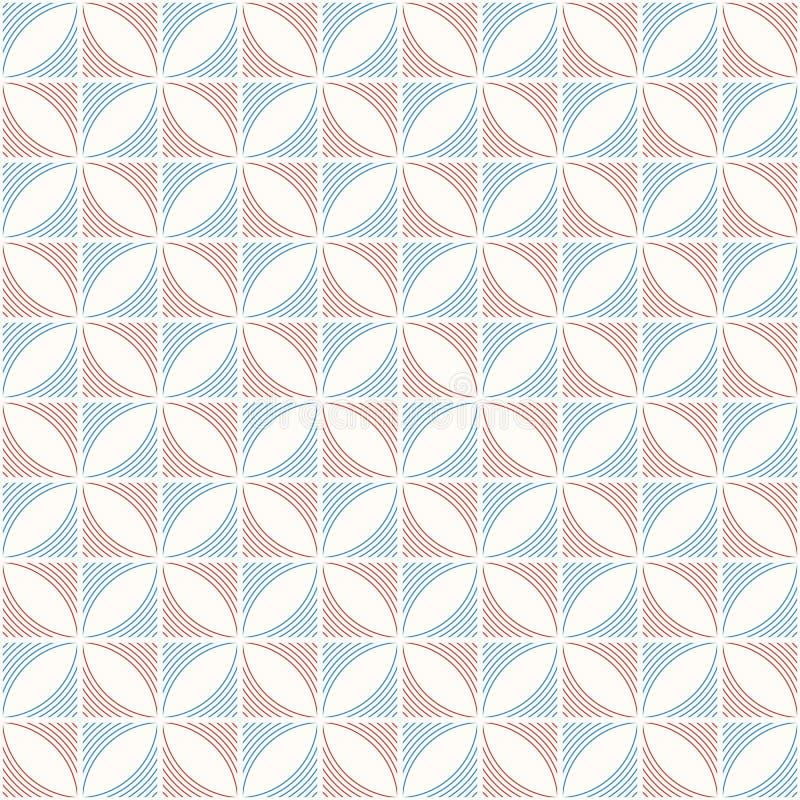 Teste padrão minimalistic da cor sem emenda abstrata Rombos feitos de linhas lisas ilustração royalty free