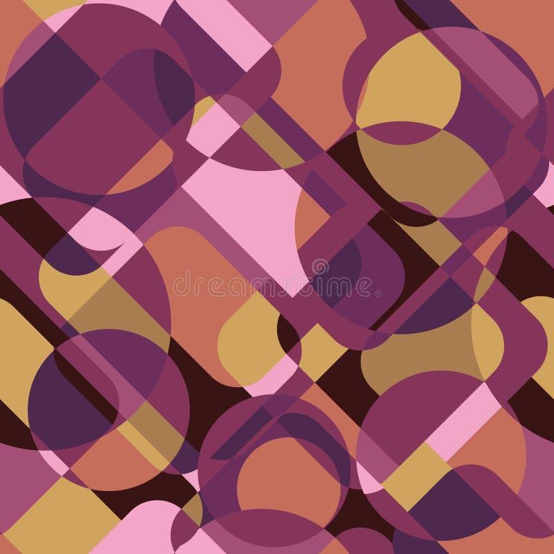 Teste padrão minimalistic da geometria com forma e figura simples no Sc ilustração do vetor