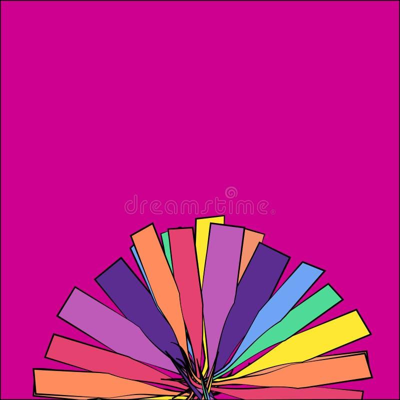 Teste padrão moderno colorido da abstração ilustração do vetor