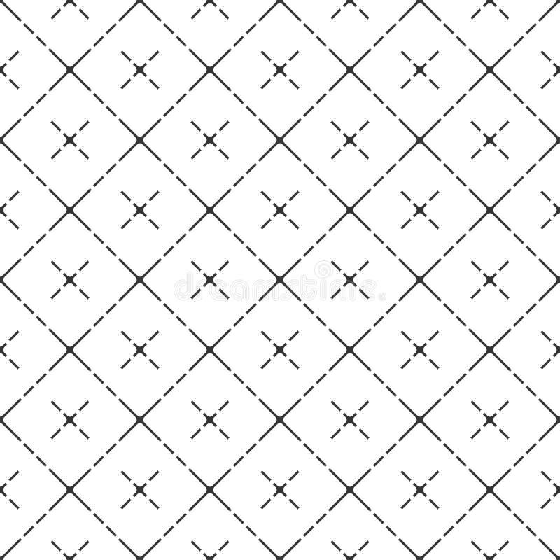 Teste padrão moderno da pilha do vetor com cruzes ilustração stock