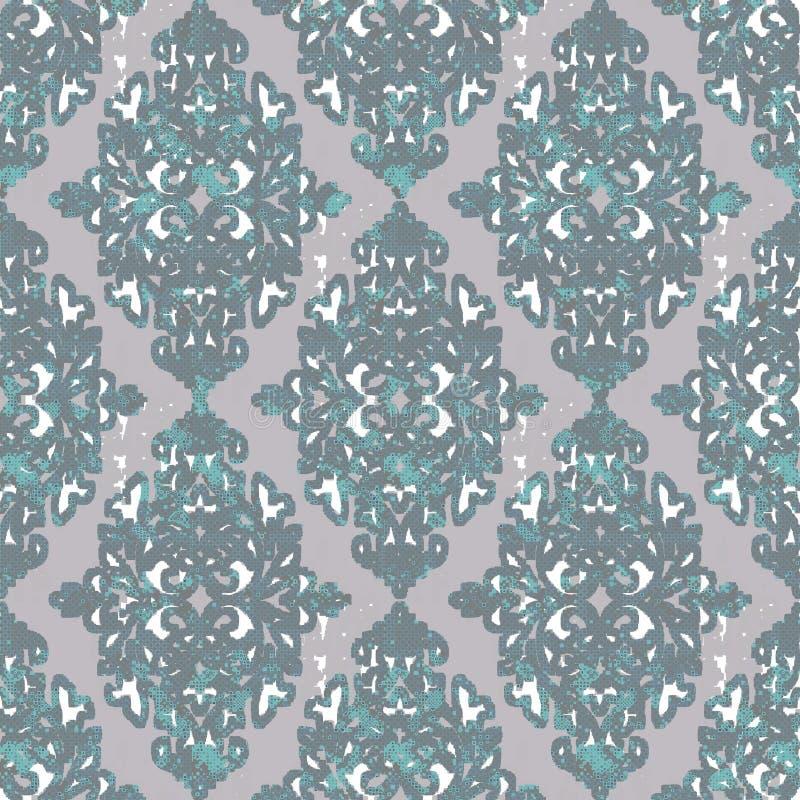 Teste padrão moderno do damasco para toda a textura de matéria têxtil foto de stock royalty free