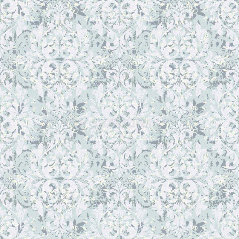 Teste padrão moderno do damasco para toda a textura de matéria têxtil imagens de stock royalty free
