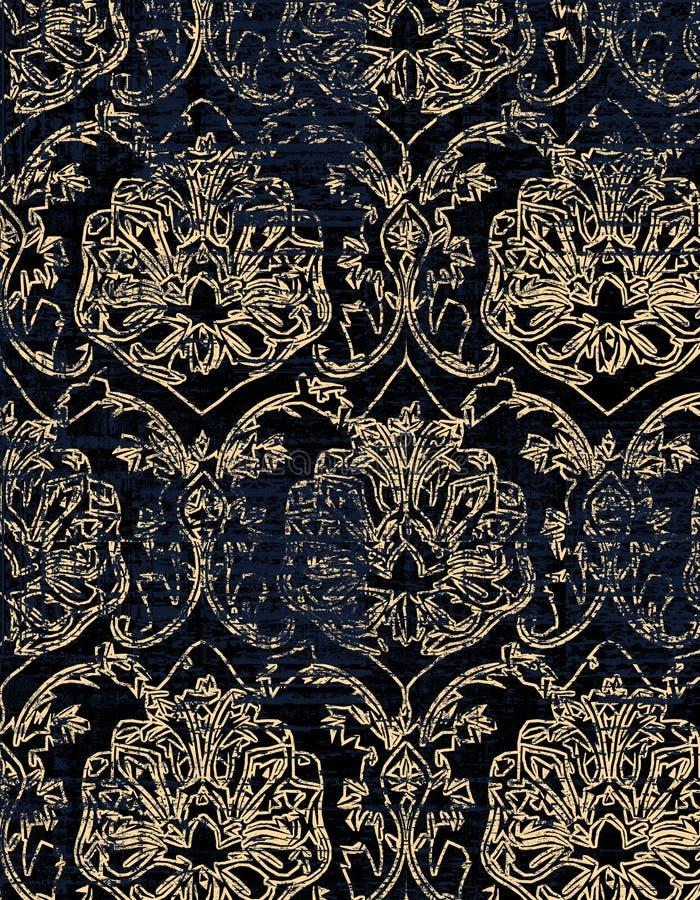 Teste padrão moderno do damasco do vintage fotografia de stock royalty free