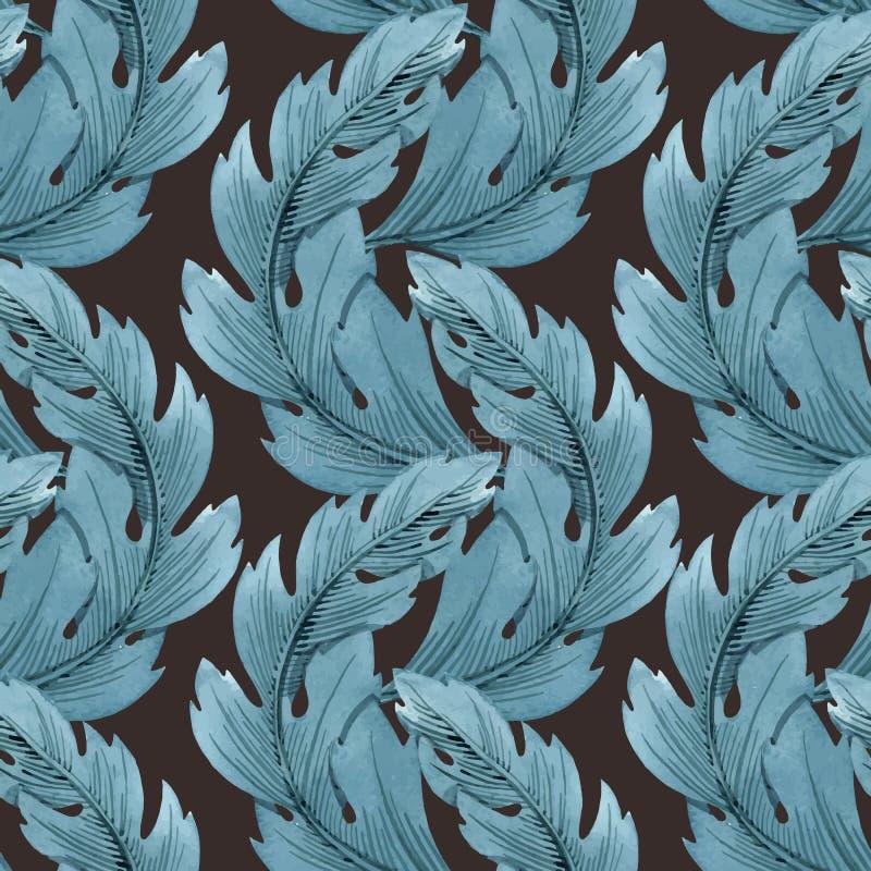 Teste padrão moderno do vetor de Art Nouveau Tiffany ilustração royalty free