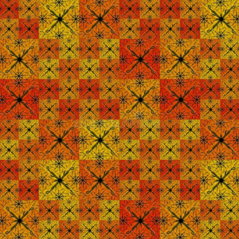 Teste padrão moderno geométrico dos retalhos ilustração do vetor