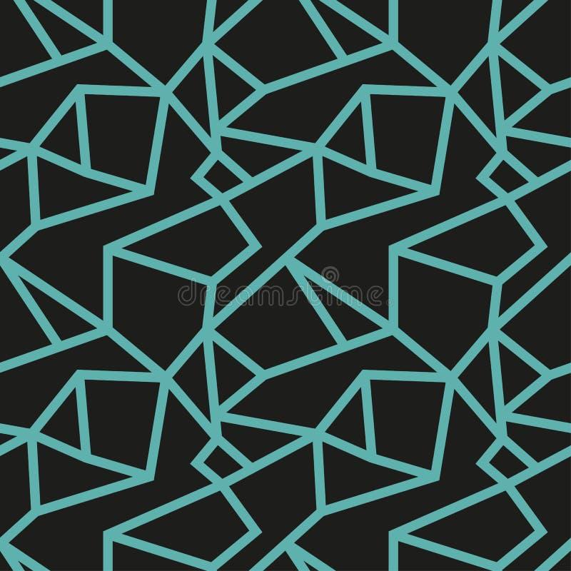 Teste padrão moderno original do enigma ilustração stock