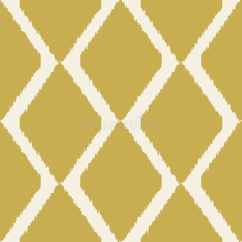 Teste padrão moderno sem emenda de Ikat para a decoração home ou a Web ilustração royalty free
