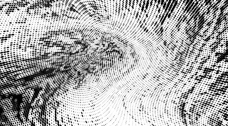 Teste padrão monocromático abstrato da reticulação do grunge As manchas pontilhadas macias e espirram Ilustração do vetor com pon ilustração do vetor