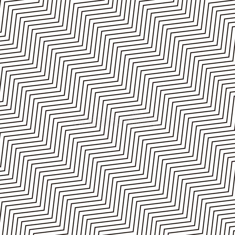 Teste padrão monocromático geométrico sem emenda repetível com distorte ilustração royalty free