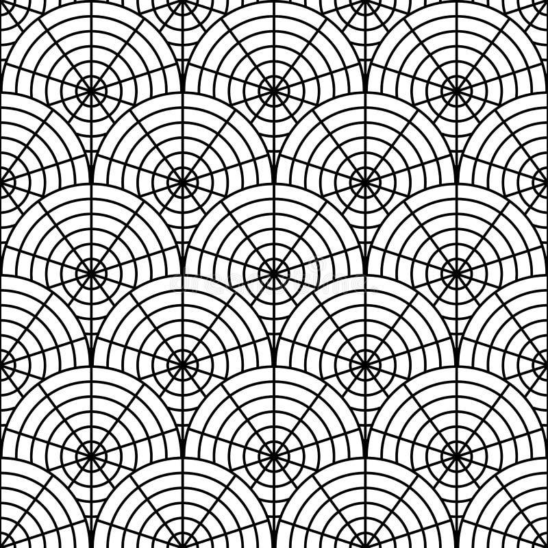Teste padrão monocromático sem emenda da Web de aranha do projeto. Segunda-feira ilustração do vetor