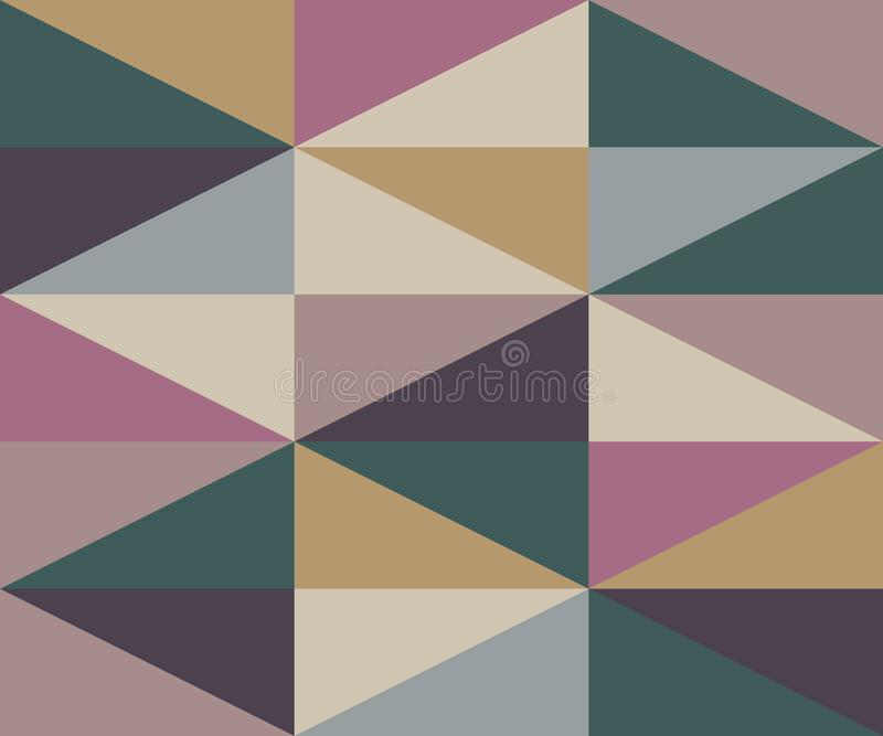 Teste padrão morno das cores do rombo do sumário ilustração stock