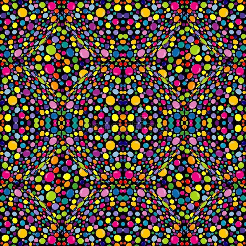 Teste padrão multicolorido, abstrato com círculos ilustração stock