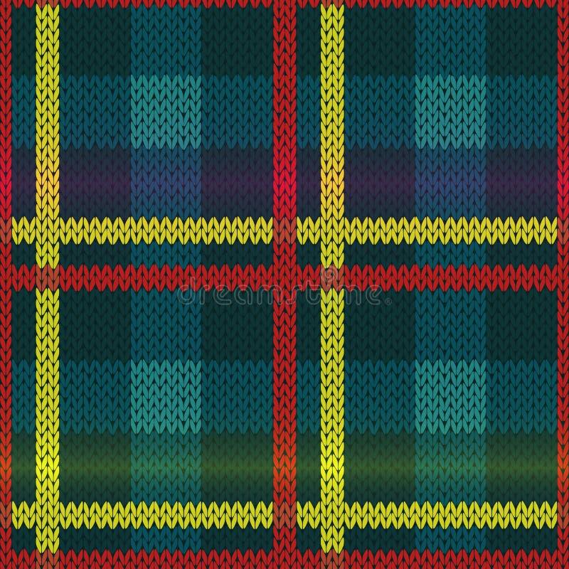 Teste padrão multicolorido feito malha sem emenda ilustração royalty free