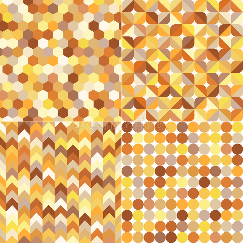 Teste padrão multicolorido geométrico sem emenda ilustração stock