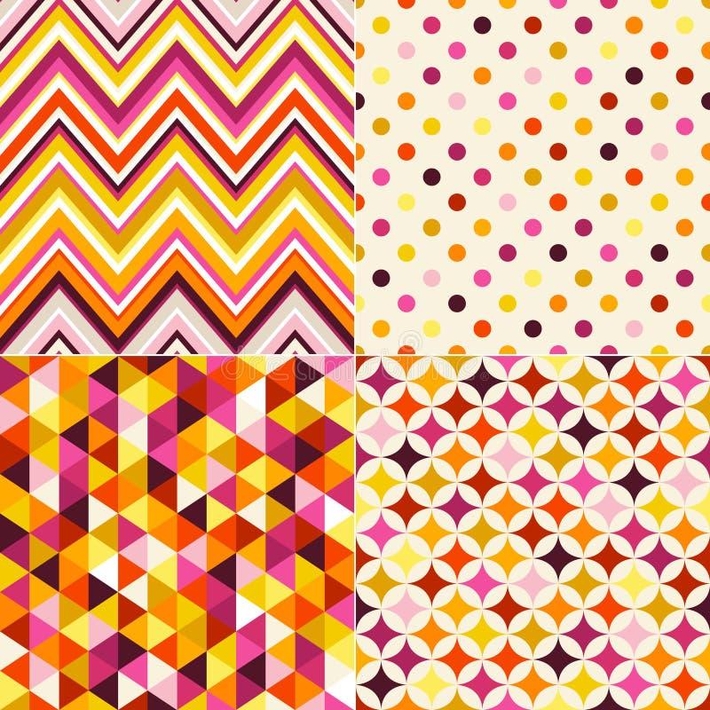 Teste padrão multicolorido geométrico sem emenda ilustração royalty free
