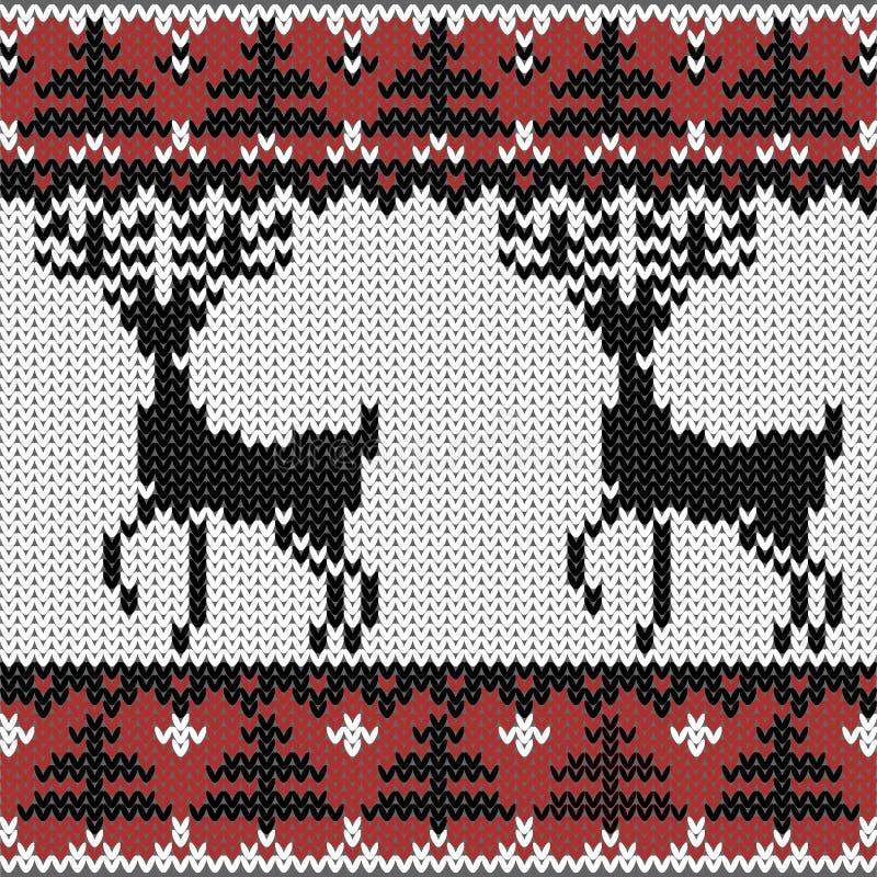 Teste padrão nórdico feito malha inverno ilustração royalty free
