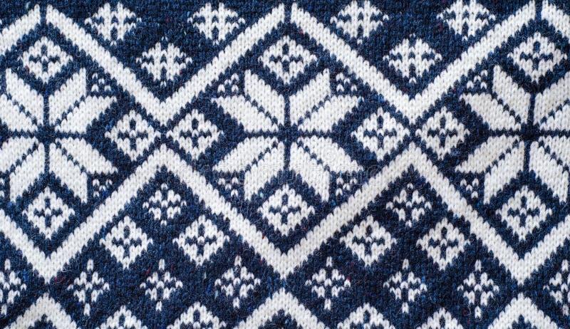 Teste padrão nórdico retro do jérsei imagens de stock