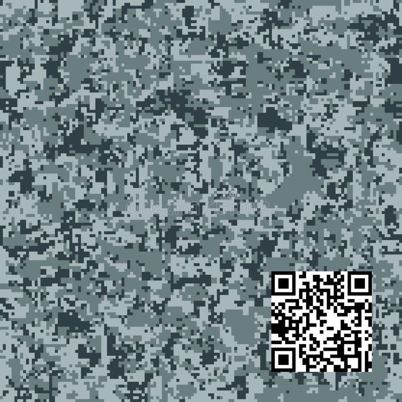 Teste padrão na moda do camo do vetor moderno da forma Teste padrão sem emenda da camuflagem de Digitas ilustração royalty free