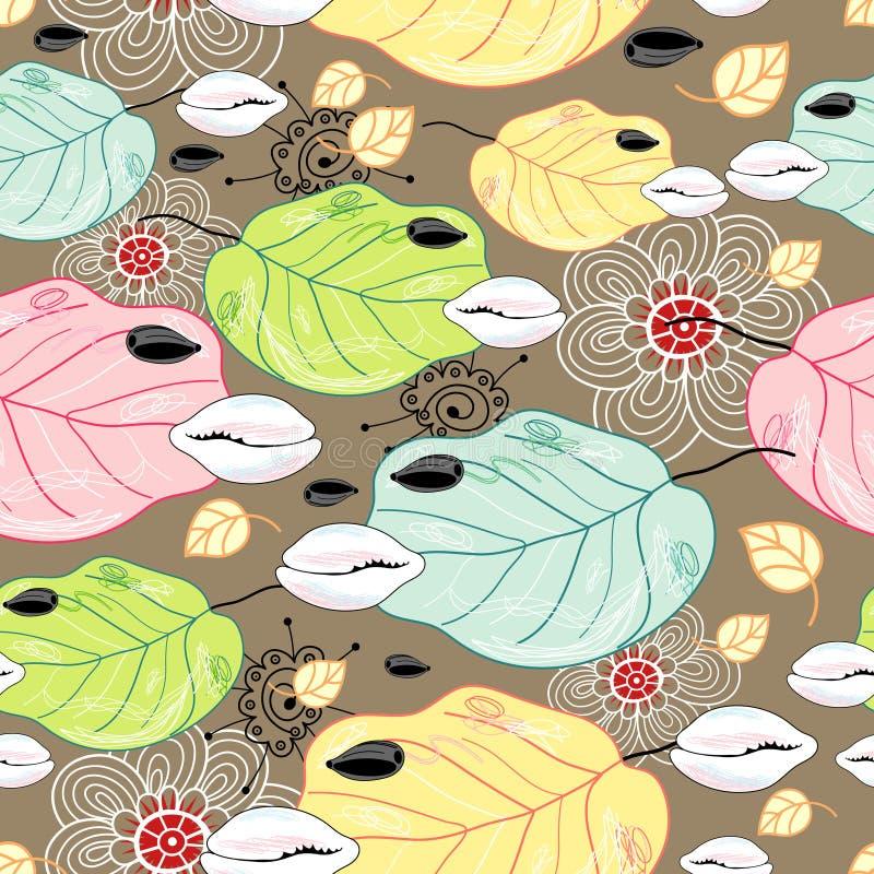 Teste padrão natural das folhas e dos escudos ilustração do vetor