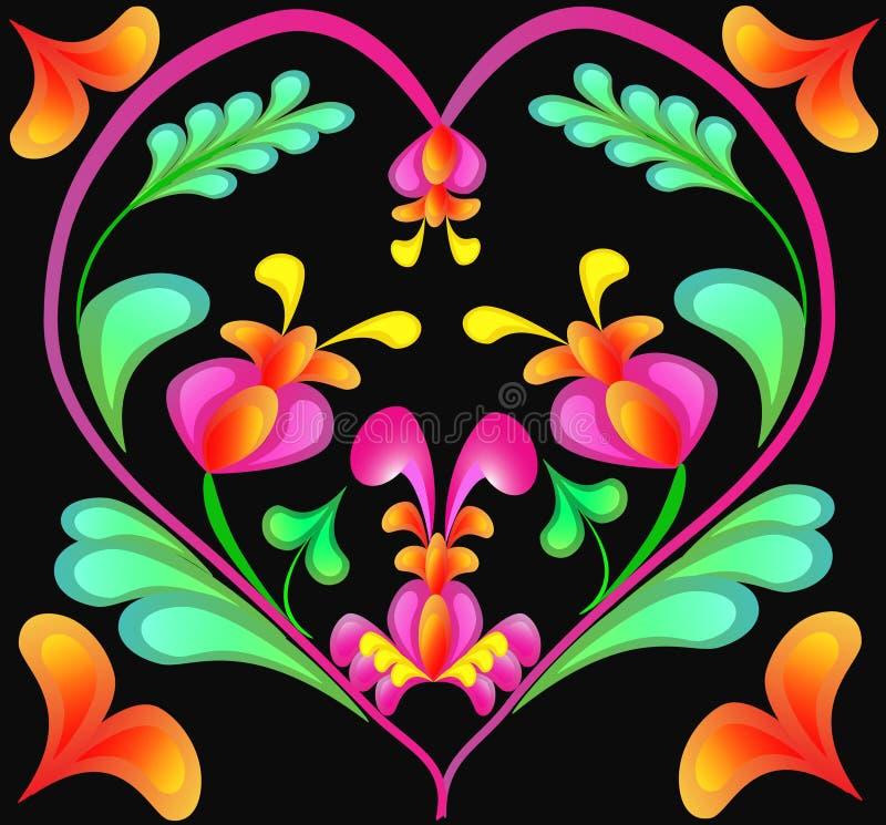 Download Teste padrão no coração ilustração do vetor. Ilustração de elemento - 16852673