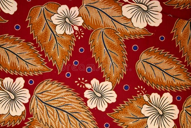 Teste padrão no Sarong tradicional do Batik fotografia de stock royalty free