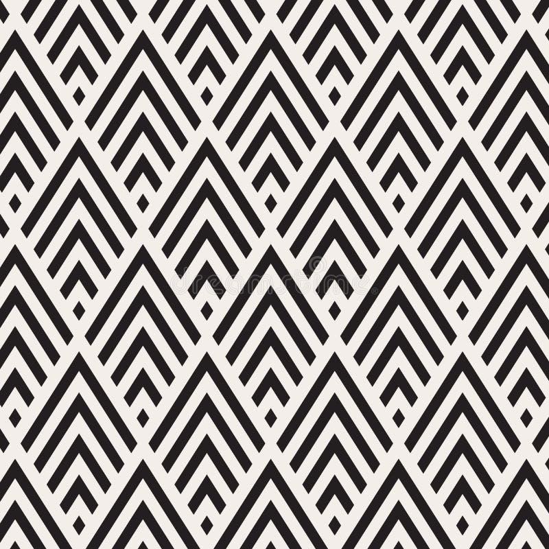 Teste padrão no ziguezague Teste padrão sem emenda da viga clássica Projeto do vetor ilustração royalty free