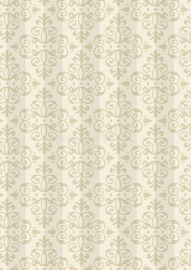 Teste padrão novo do estilo do damasco ilustração royalty free