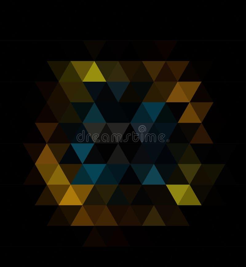 Teste padrão obscuro preto escuro do triângulo do vetor Ilustração abstrata geométrica moderna com inclinação ilustração do vetor
