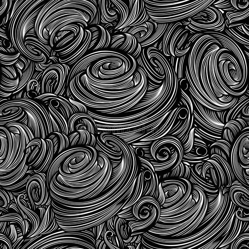 Teste padrão ondulado ilustração stock