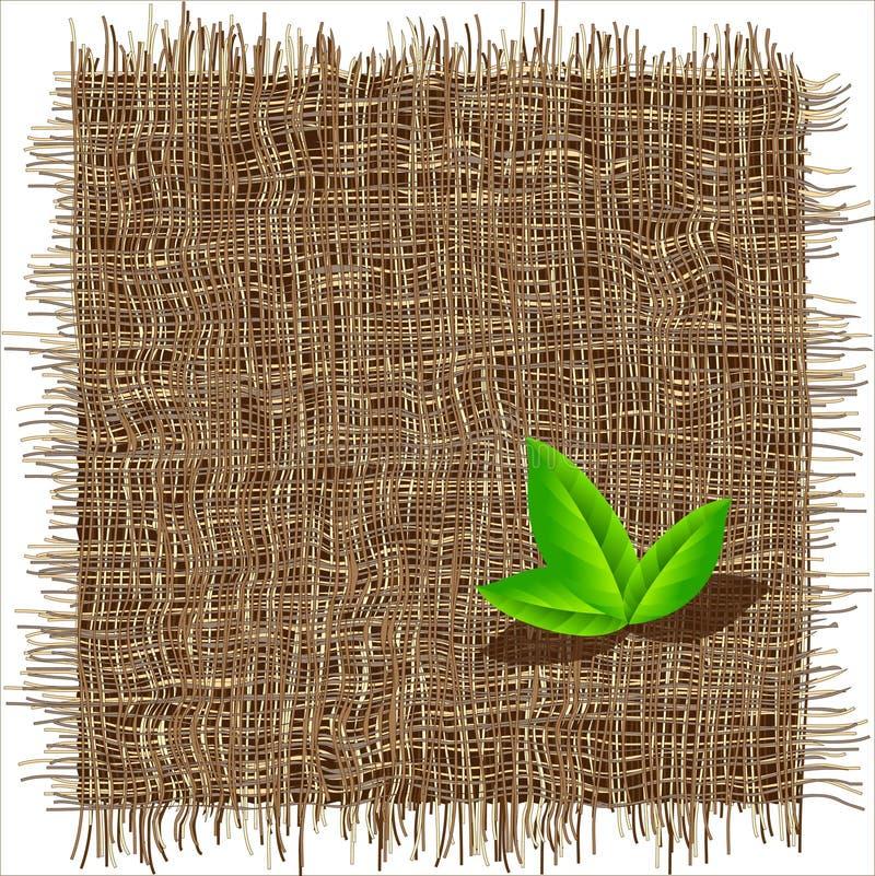 Teste padrão orgânico do weave ilustração stock