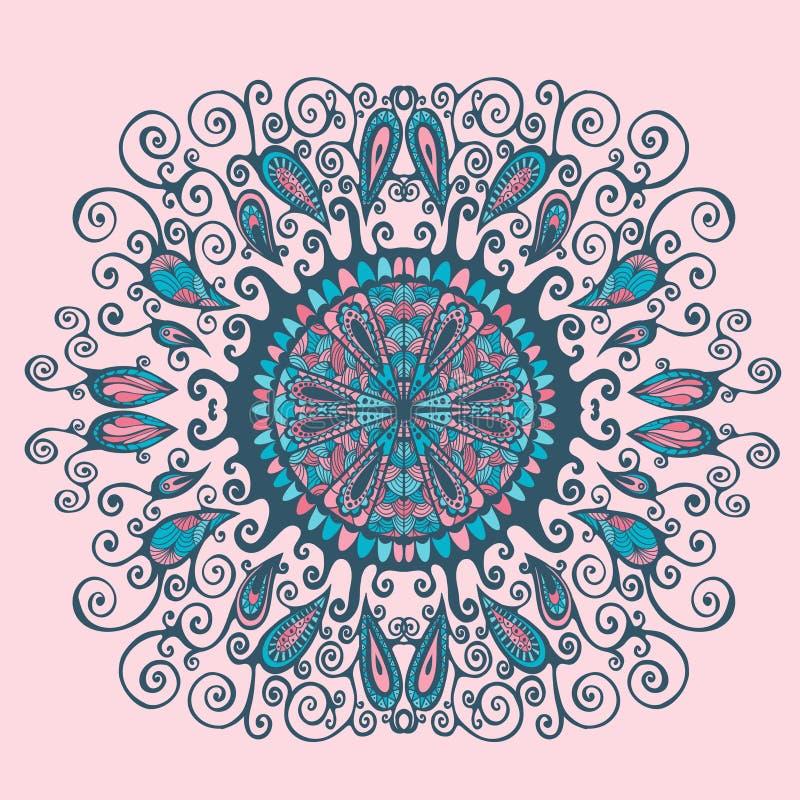 Teste padrão oriental abstrato ilustração royalty free
