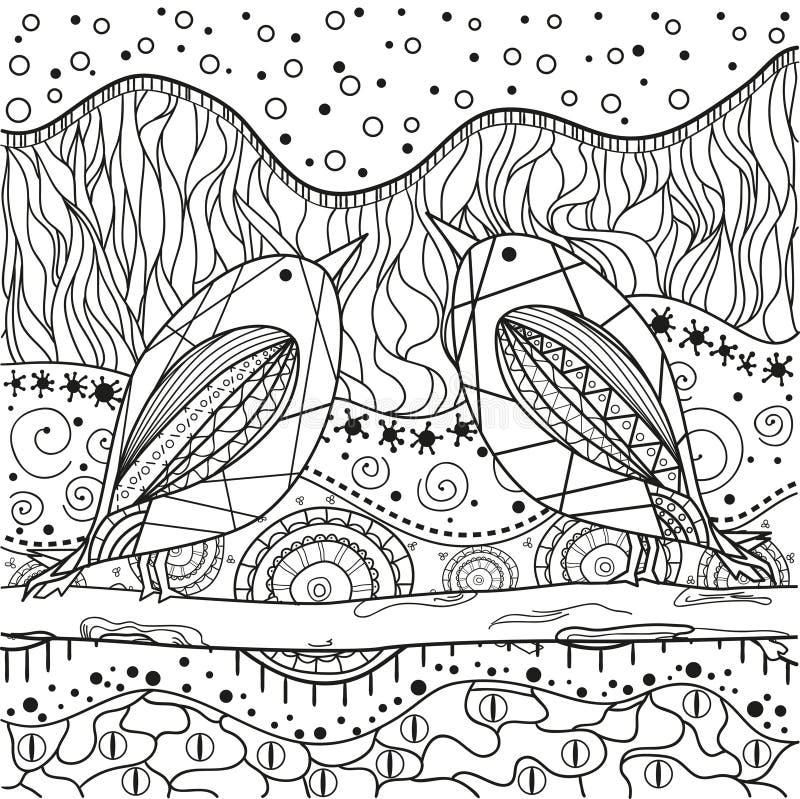Teste padrão oriental abstrato ilustração stock