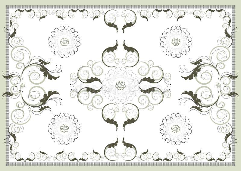 Teste padrão oriental antigo decorativo. Artes gráficas. ilustração royalty free