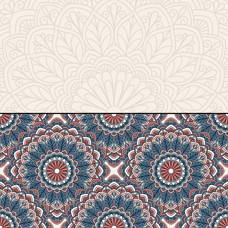 Teste padrão oriental floral ilustração stock