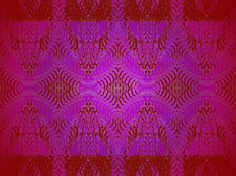 Teste padrão ornamentado regular do diamante escuro - violeta vermelha e roxo centrados ilustração do vetor