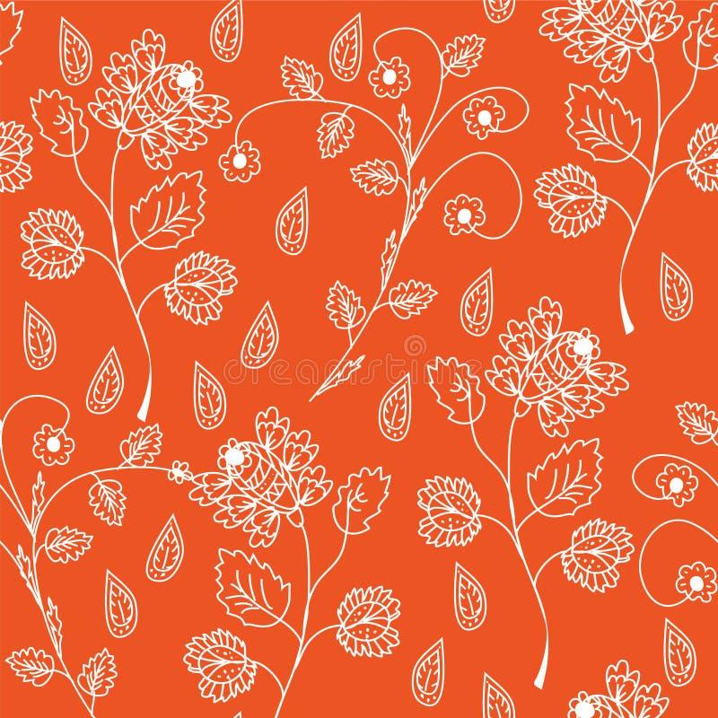 Teste padrão ornamentado sem emenda floral ilustração royalty free